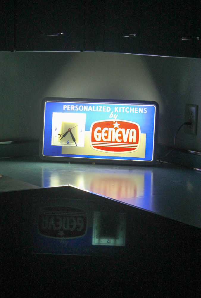 light up geneva kitchens clock