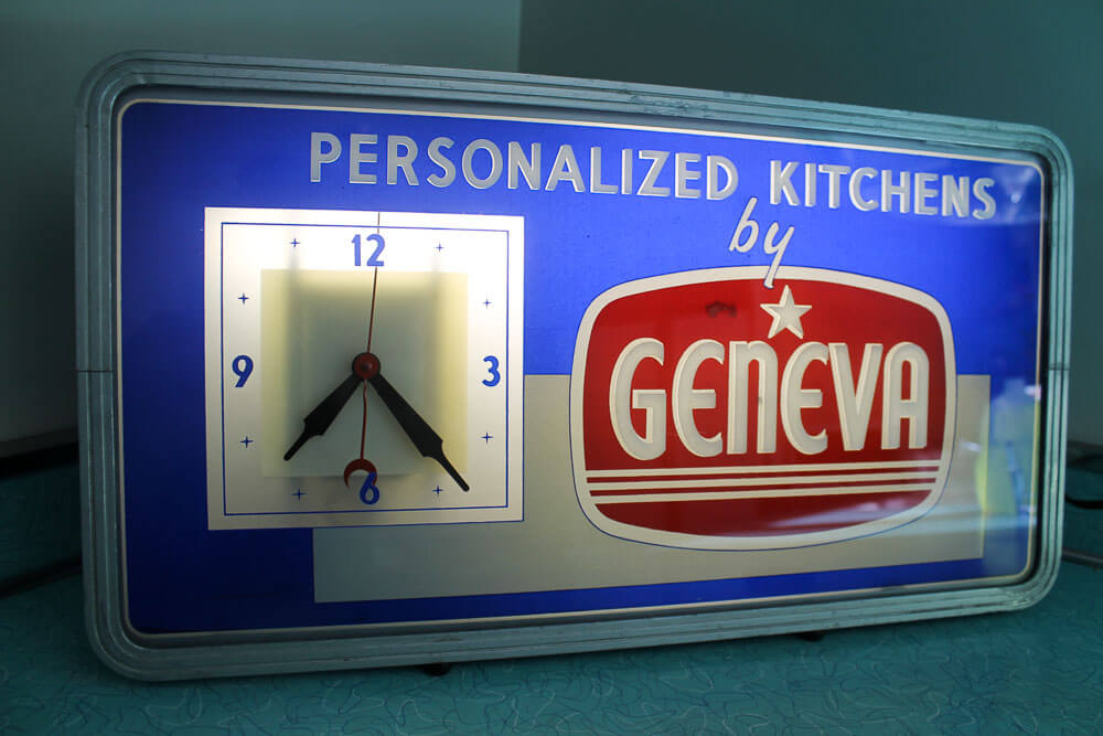 geneva kitchen cabinets clock