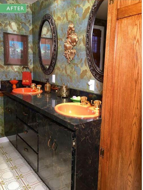 enjoyable formica bathroom vanities. Above  Kathy and Ralph also went for a 1970s style laminate vanity 15 midcentury modern retro bathroom vanities built new