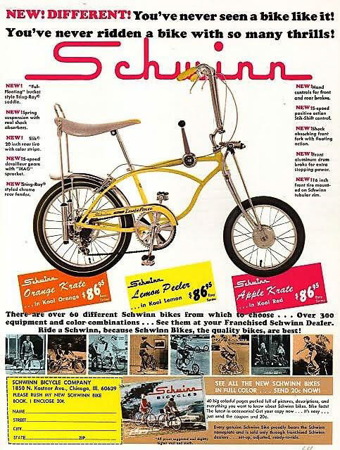 27714e389c0 I asked Schwinn PR for a historical image and yippee, they sent me the ad  above.