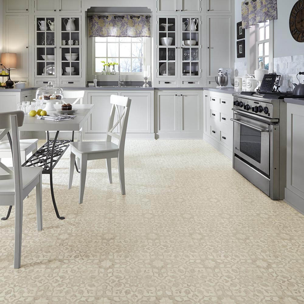 Flooring for a 1970s kitchen or living area moroccan style filigree above hey beige dailygadgetfo Images