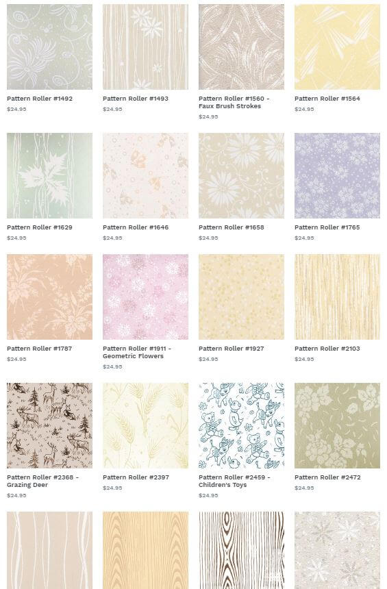 Rollerwall Paint Your Wall To Look Like Wallpaper 146 Patterns