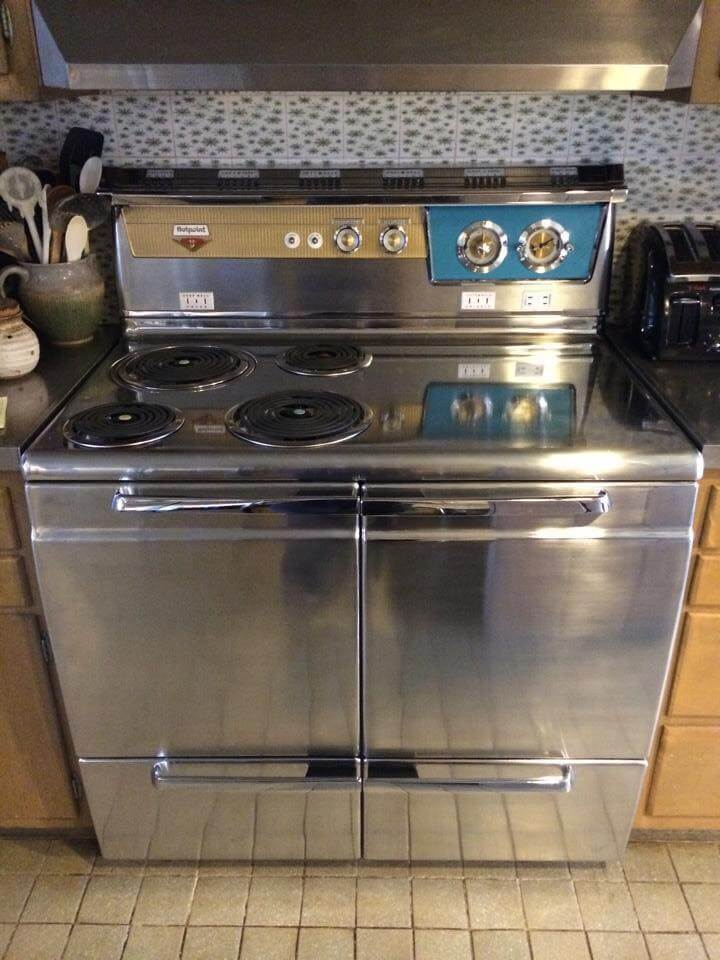 Stainless Steel Stove ~ Hotpoint stainless steel range very rare i think