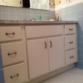 classic midcentury bathroom vanity
