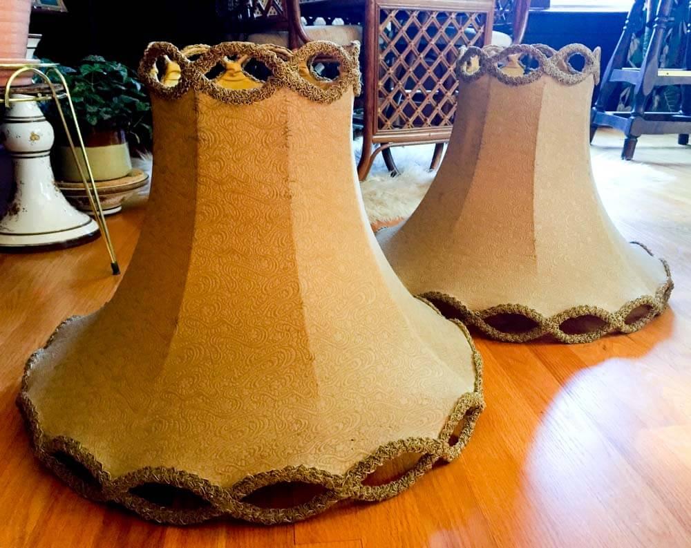vintage pagoda lamp shades