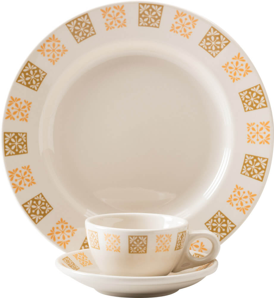 Homer Laughlin Golden Ambrosia pattern china