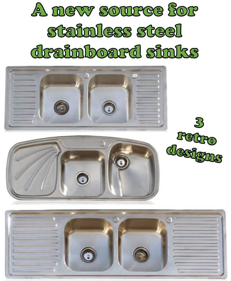 Drainboard Kitchen Sinks: Oh, How We Love Them In Our Vintage And  Retro Design Kitchens! Those Drainboards Are So Darn Functional U2014 And This  Style Of Sink, ...