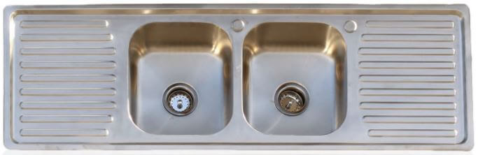 Drainboard kitchen sinks in stainless steel three designs from an