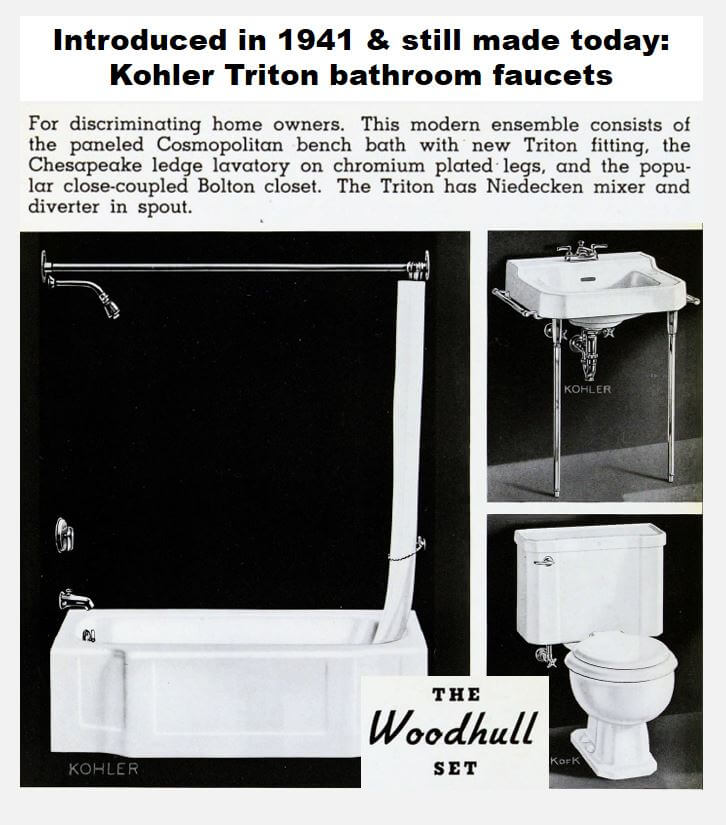 Marvelous Kohler Triton bathroom sink faucets have been around a long time How long I asked Kohler They researched the topic and replied Since u an amazing