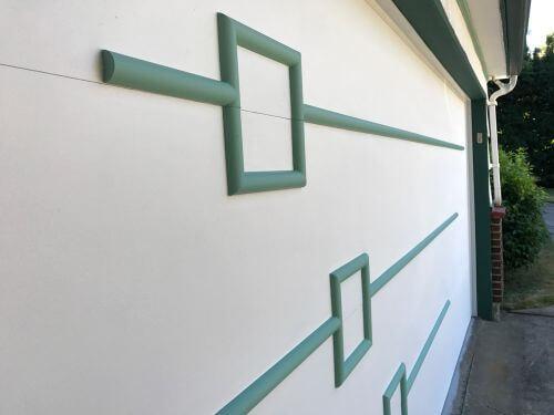 midcentury modern garage doors