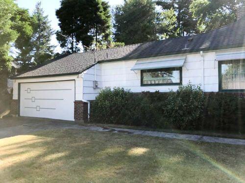 midcentury garage door design