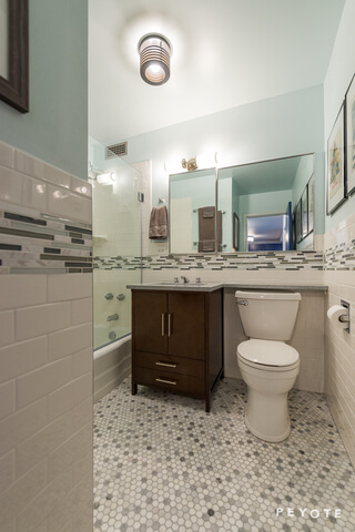midcentury modern bathroom renovation