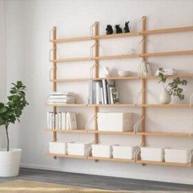 ikea svalnas wall storage