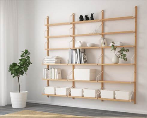 ikea svalnas wall storage