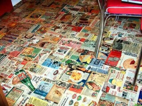 Decoupage Kitchen Floor Missy S Unique And Long Lasting