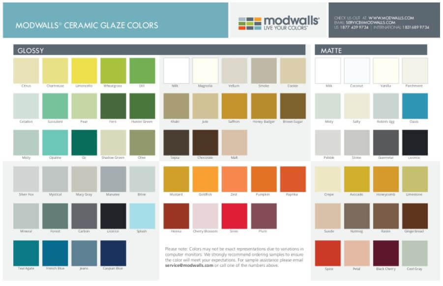 Thanks To Cindy For This Tip Modwalls Which Made Its Name Ing Gl Tile Now Also Offers Ceramic Glazed In Lots Of Shapes Including 4 X4