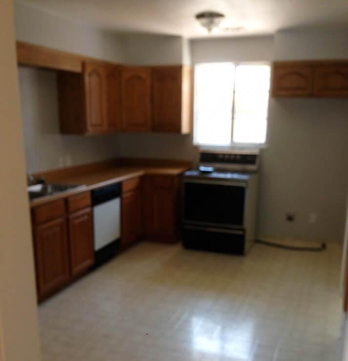 kitchen that needs renovation