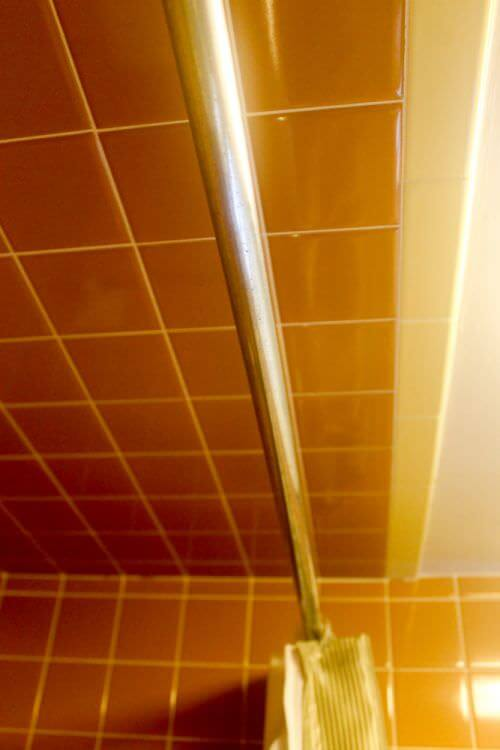 The Brown And Yellow Bathroom Upstairs In Mary Amp Duane S