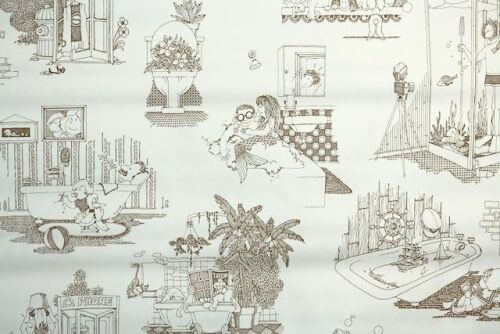1970s Novelty Wallpapers Sure To Keep Your Guests In The