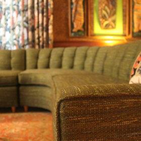 custom made sofa with eight way hand tied springs
