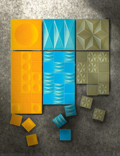 Heritage Tile Introduces Three Sculptural Tile Designs