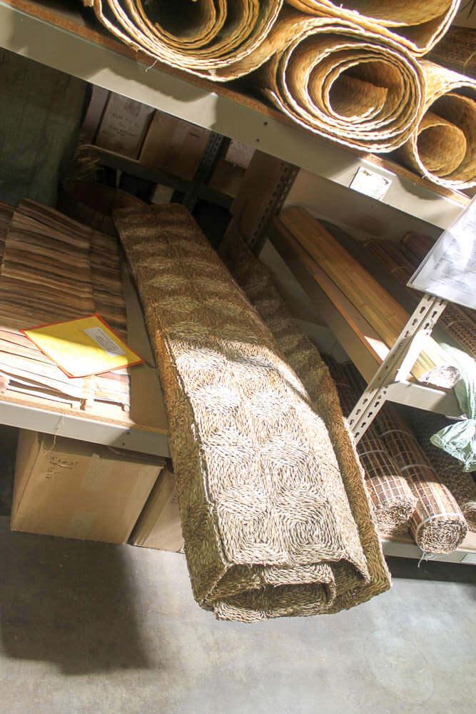 retro seagrass rug
