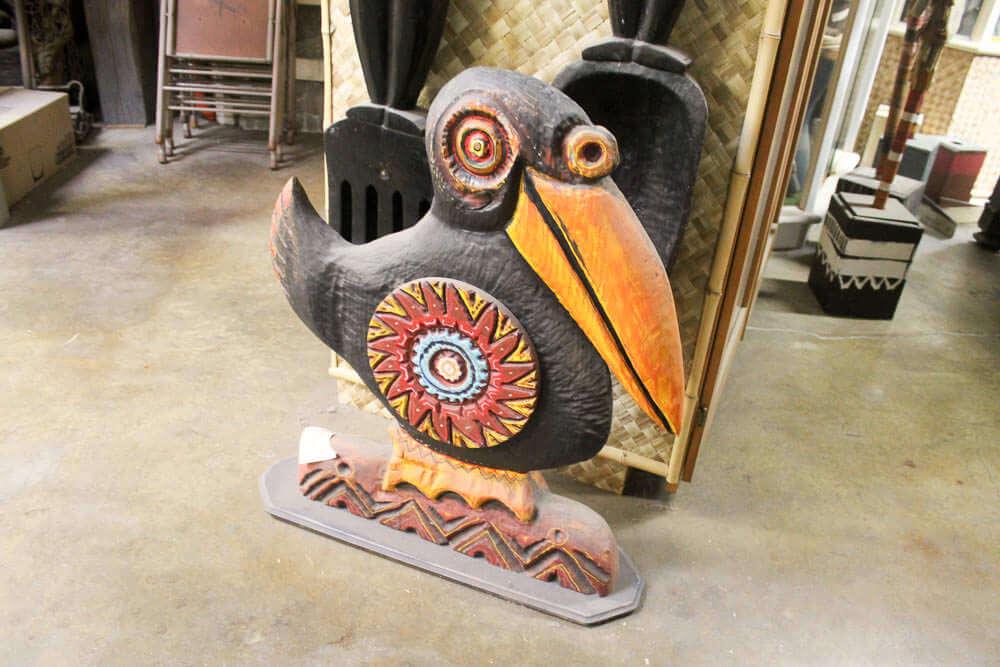 carved bird by LeRoy Schmaltz