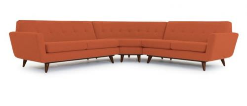 9 Swanky Curved Sectionals In Midcentury Modern Style