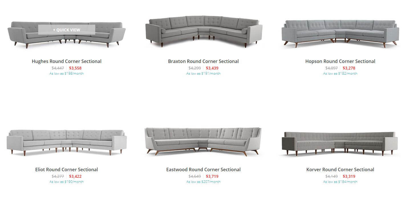 Fantastic 9 Swanky Curved Sectionals In Midcentury Modern Style Gmtry Best Dining Table And Chair Ideas Images Gmtryco