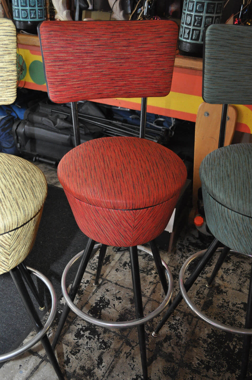 Six Gorgeous Vintage Bar Stools Color Color Give Us