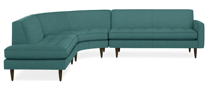 Room And Board S Reese Curved Sectional Comes In Two Sizes