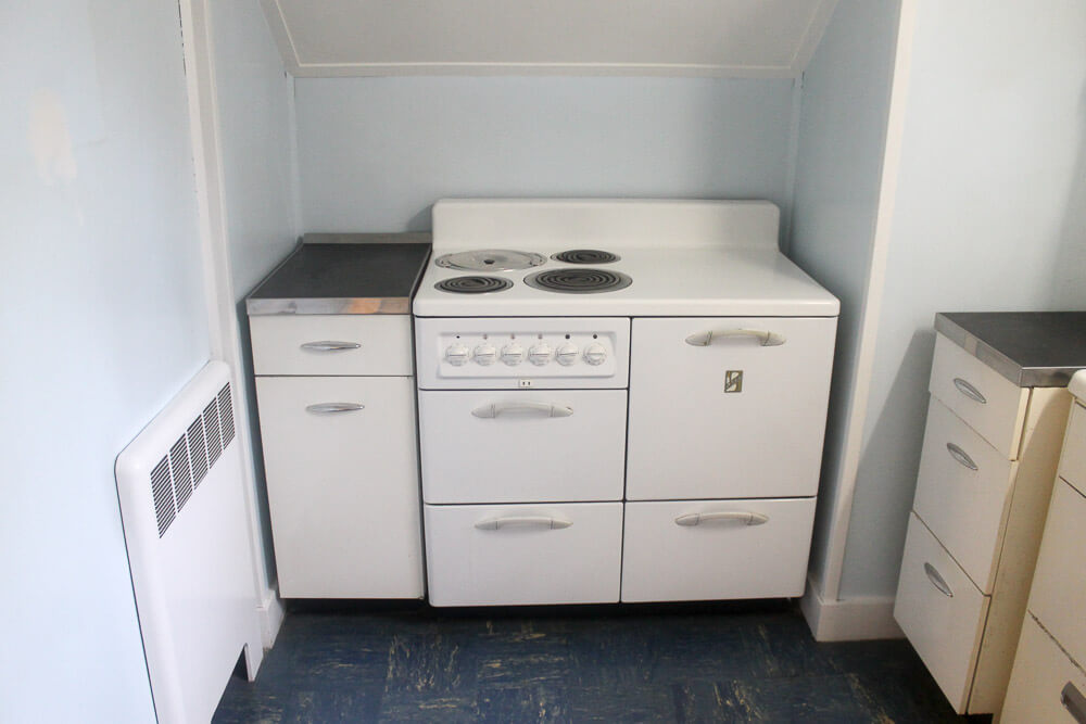 Two 1948 kitchens in Mary and Duane's time capsule house