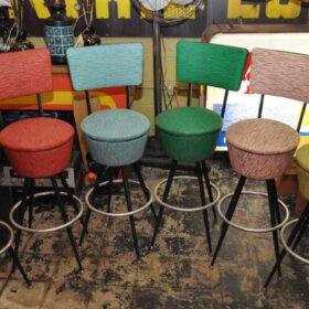 colorful vintage bar stools