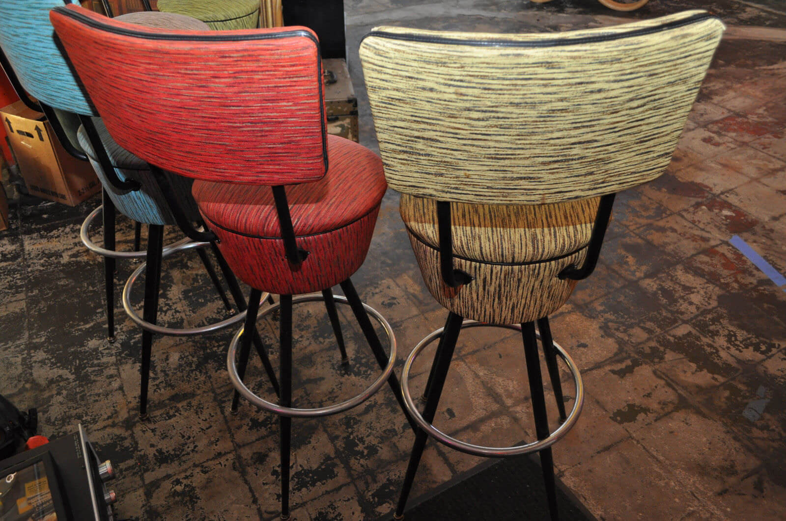 and they will enlarge on screen on a desktop sos you can see what im talking about fabulous the designer of these bar stools had it goin on - Vintage Bar Stools