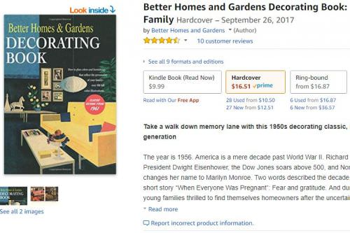 Better Homes and Gardens\' 1961 Decorating Book - 432 pages ...