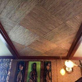 grasscloth wallpaper ceiling