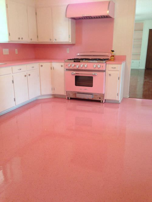 pink kitchen tiles elizabeth s 1965 kitchen before and after from gloomy 1503