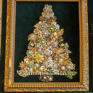 costume jewelry christmas tree