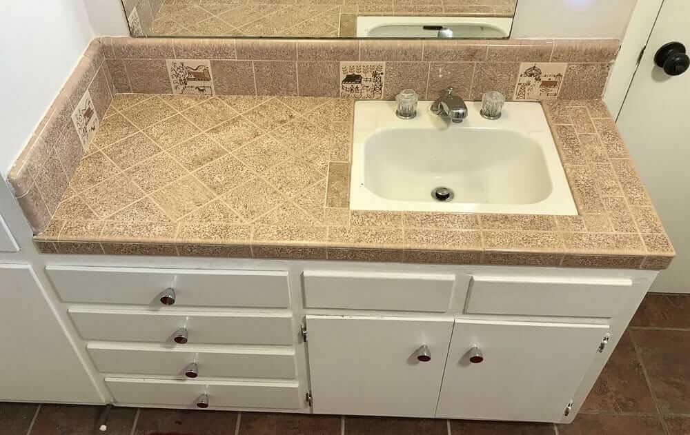 Tile In Kitchen Sink 22 places to find 4 x 4 ceramic bathroom tile in vintage colors pomona tile oklahoma series tiles in stevens 1958 bathroom workwithnaturefo