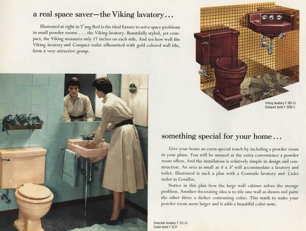 Vintage Above upper right hand corner The Viking a corner sink
