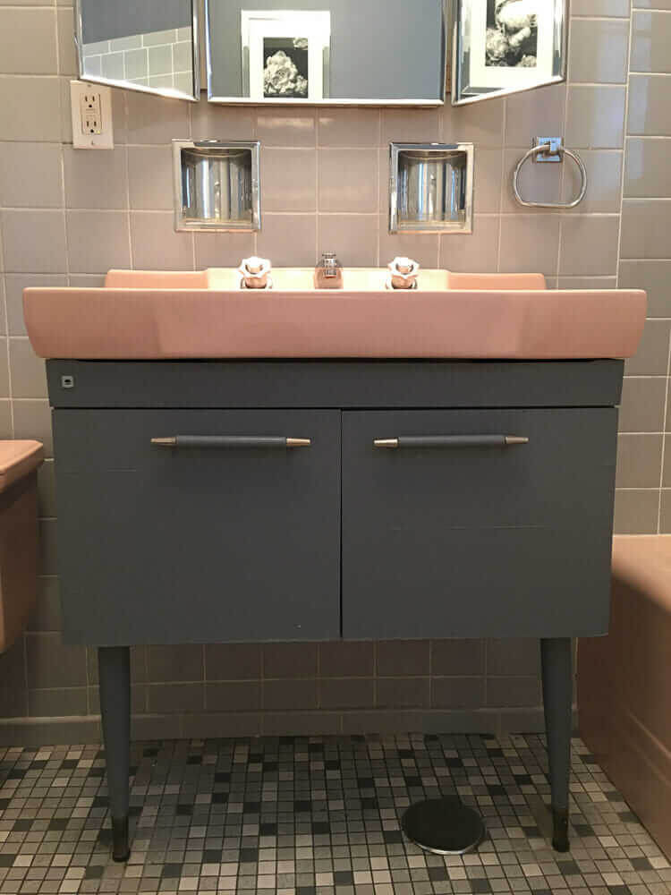 Pink gracelyn sink with the hard to find vanity take - American classic bathroom vanity ...