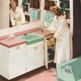 tile-in bathroom sinks
