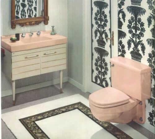 American standard Gracelynn sink white vanity pink sink
