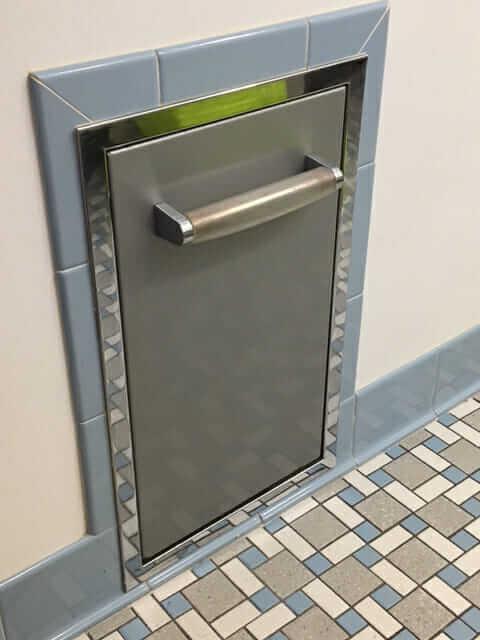 hall mack recessed bathroom scale