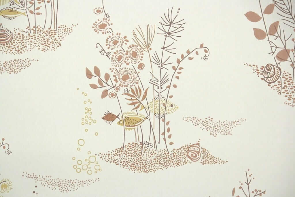 Vintage Wallpaper Or Paint For Laura 39 S 1957 Bathroom