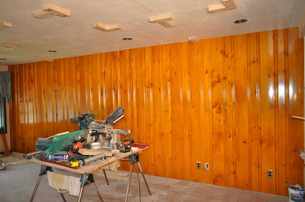 Knotty Pine Color Just Right But He Also Has A Question For Us Should The Faux Beams S Adding Be Darker In Than Or Same