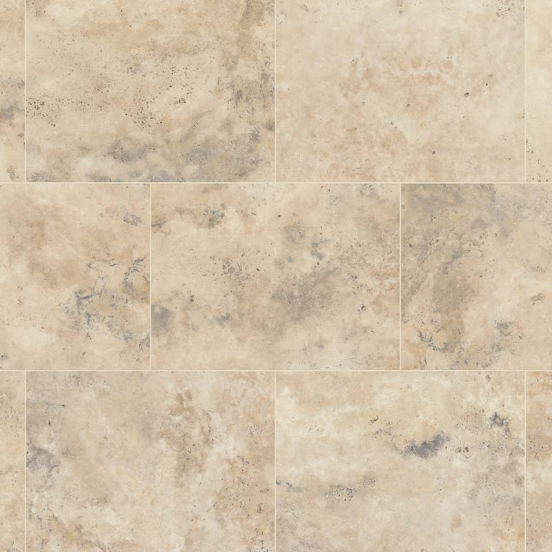 Travertine flooring in a Luxury Vinyl Tile - good for a