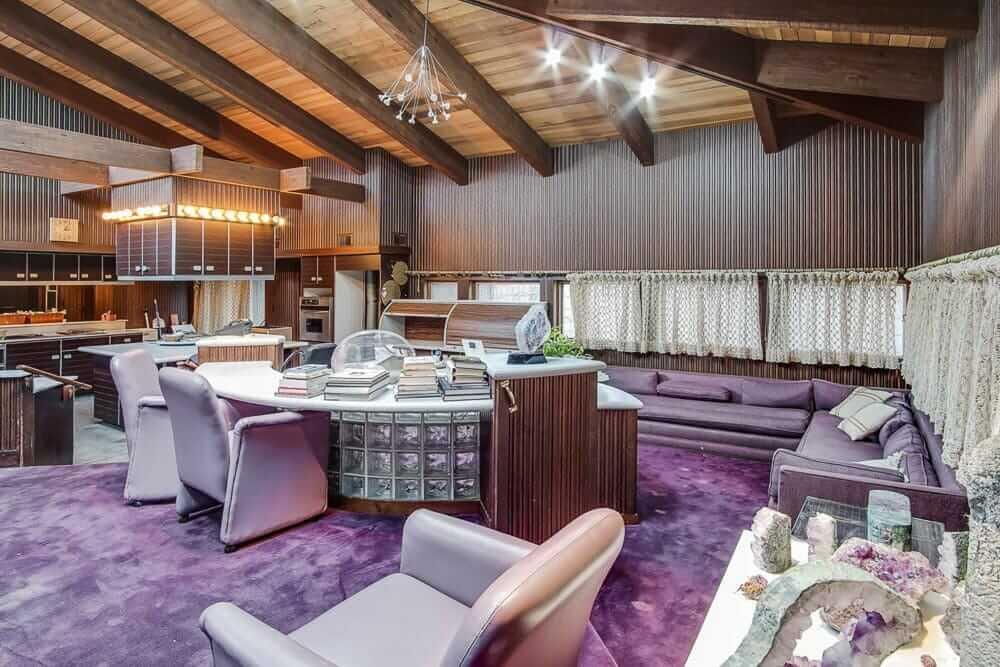 room with purple decor