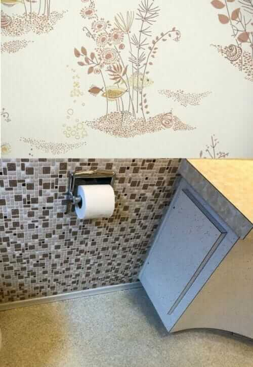 Vintage wallpaper or paint for laura 39 s 1957 bathroom for Vintage bathroom wallpaper