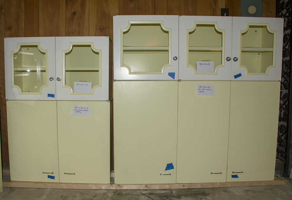 yellow st charles kitchen cabinet